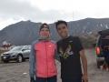 Dominika z Luisem Barriosem, który nie rzadko wykonuje trening biegowy na wysokości powyżej 4 tyś. m n.p.m.